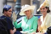 Меган Маркл впервые  появилась на публике после родов, посетив парад в честь  официального Дня рождения Елизаветы II
