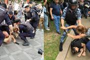 В ход пошли дубинки, в Сети появилось видео, как жестко действует полиция. На марше задержано уже 400 человек