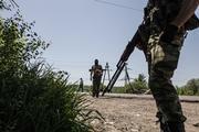 Опубликовано видео с места боя военных ДНР с киевскими силовиками под Ясиноватой