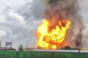 В Мытищах пожарные ликвидировали факельное горение на ТЭЦ