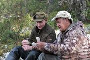 СМИ: опубликовано видео отдыха Путина в сибирской  тайге