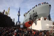 В Санкт-Петербурге спустили на воду первый российский боевой ледокол
