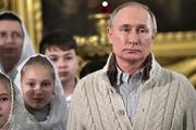 Путин отметил Рождество в Санкт-Петербурге