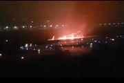 В Сочи при посадке загорелся самолет. Пострадали пассажиры