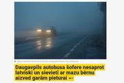 В Латвии пассажирка автобуса вцепилась в волосы водителю из-за русского языка