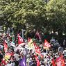 Неподалеку от Биаррица проходит шествие противников G7