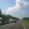 Трасса М-7: субботняя автомобильная пробка длиной 15 километров (ФОТО)