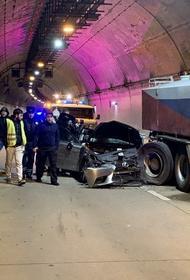 Водитель Lexus  погиб в Сочи в ДТП на дублере Курортного проспекта. Есть видеозапись