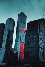 В башне Москва-сити произошло обрушение части стеклянной конструкции