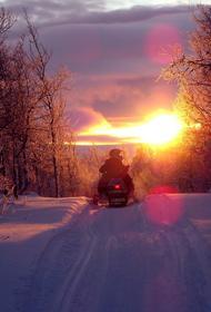 В Пензенской области умер водитель снегохода