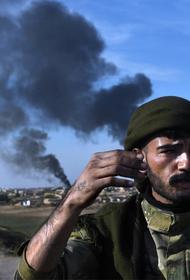 Появилось видео нападения курдов на турецкий КПП