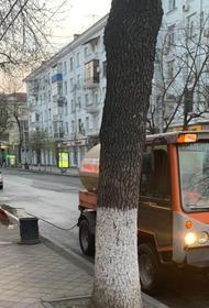 850 км дорог и тротуаров было продезинфицировано в Краснодаре