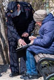 Полиция  Крыма доложила, что пойманы 304 пожилых нарушителя, которые ходили по городу без соответствующих документов