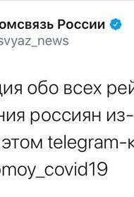 «Везём домой COVID-19» - название канала Минкомсвязи, в котором рассказывают о возвращении россиян, застрявших за границей