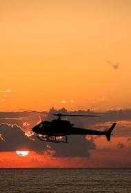 Военный вертолет совершил жесткую посадку в Крыму