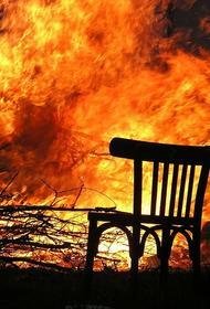 Появилось видео с места пожара в частном хосписе в Красногорске