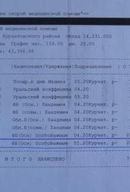 Челябинские врачи показали расчетки с выплатами