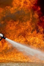 В подмосковном Нахабино горит крупный склад