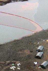 «МЧС сообщало о локализации», а сегодня Норникелевские нефтепродукты утекли в озеро Пясино, а там недалеко и Карское море