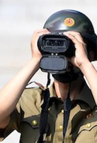 В сети появилось видео, на котором запечатлен подрыв межкорейского офиса связи