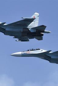 Появилось видео перехвата российскими Су-27 бомбардировщика США над Балтикой