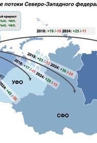 Миграционная картина СЗФО