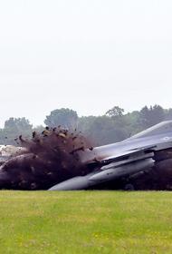 Потерпел крушение истребитель F-16 ВВС США