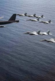 ВВС США сообщили, что бомбардировщик B-52 участвовал в учениях с двумя авианосцами в Южно-Китайском море