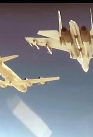 Российские истребители Су-35С и МиГ-31БМ перехватили американский самолет-разведчик RC-135