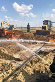 В Волгоградской области произошел пожар на газопроводе