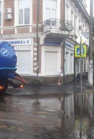 Спецтехника откачивает воду с улиц Краснодара