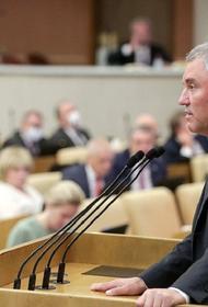 Володин назвал партийную систему в России устоявшейся