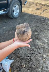Ритуальный сосуд каменного века найден в курганах под Краснодаром