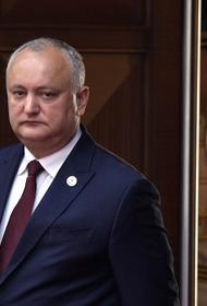 Президент Молдавии прибыл с рабочим визитом в Москву