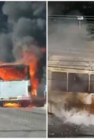 Пассажирский автобус сгорел в Юбилейном микрорайоне Краснодара