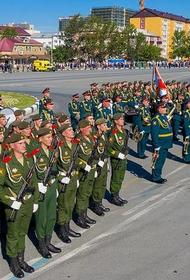 Парад войск ВВО, посвященный окончанию Второй мировой войны, состоялся на Сахалине