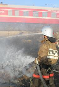 Пожарные поезда Приволжской железной дороги  14 раз тушили  природные пожары летом 2020 года