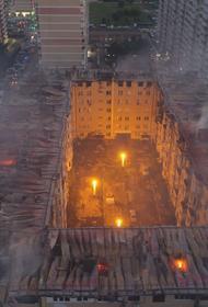 Опубликовано видео крупного пожара в краснодарской многоэтажке