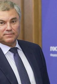 Володин заявил, что трёхдневное голосование обеспечило безопасность граждан