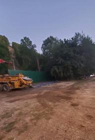 Строительство канатки в Горячем Ключе продолжается, несмотря на запрет кубанских властей