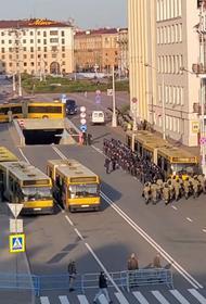 Появились кадры белорусского спецназа, готового противостоять «большому митингу» в Минске