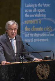 Генсек ООН Гутерреш предупредил о возможности возникновения глобальной рецессии из-за пандемии
