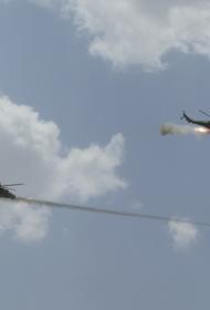 Вертолеты Ми-24 и Ми-8 ЦВО уничтожили полевой аэродром условного противника