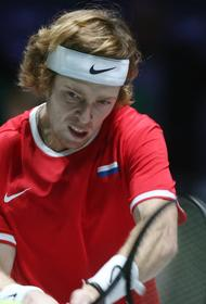 Российский теннисист Андрей Рублев:  «Главная задача -  это улучшить все, что еще можно»