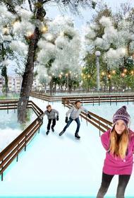 В челябинском парке имени Терешковой зимой зальют ледовые дорожки