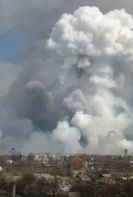 В Рязанской области горят военные склады, слышны взрывы, началась эвакуация деревень