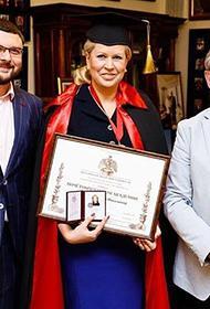 Бывшая чиновница Минобороны Евгения Васильева получила звание почетный академик Российской академии художеств
