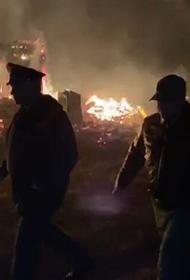 МО России направило дополнительные силы на ликвидацию пожара на военном складе в Рязанской области