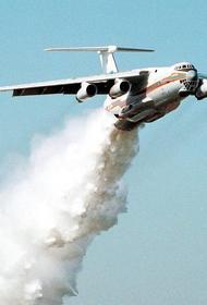 Для тушения пожара на военном складе в Рязанской области применяется авиация
