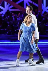 Актриса Пегова и фигурист Тихонов показали мини-кино на льду. Тарасовой понравилось, как Ирина «валялась»